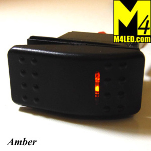 SWITCH-ROCKER-AMBER 20 Amp Amber Rocker Switch