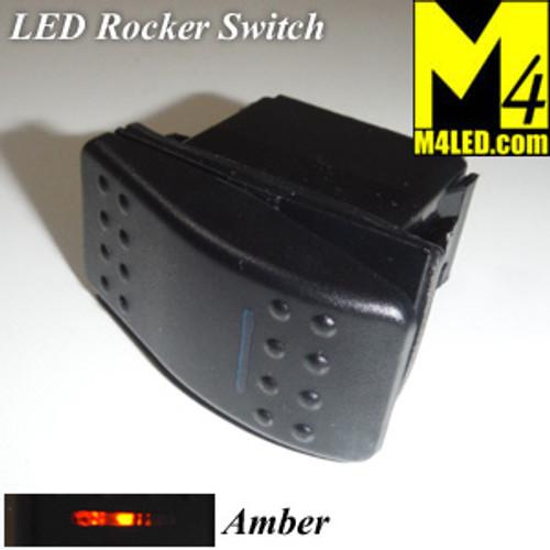 SWITCH-ROCKER-AMBER 20 Amp Amber Rocker Switch