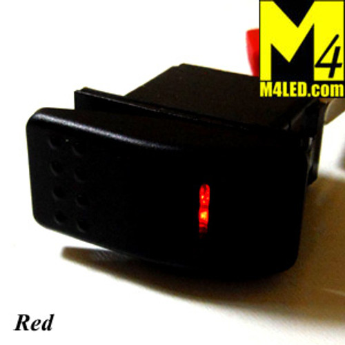 SWITCH-ROCKER-RED 20 Amp Red Rocker Switch