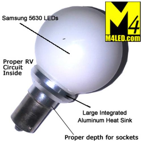 Elite 1156-GLOBE-WW-2 Vanity Globe replaces 20-99 Warm White Color
