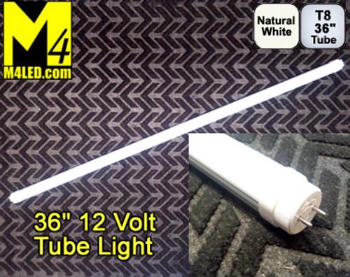 """T8-36TUBE-NW Natural White 36"""" (F30T8) 12 VOLT T8 LED Tube Light 4500k"""
