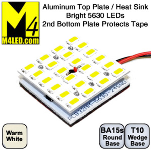 ALPLATE-24-5630-WW Warm White Double Aluminum Plate