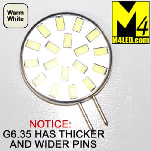G6.35-18-5630-SIDE-WW Warm White Elite Series WIDE THICK PIN G6.35