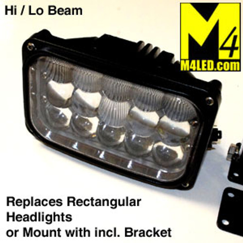 SAN6053R Standard Rectangle Headlight LED Replacement 6.5x4.25
