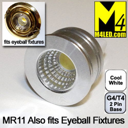 DOORBUSTER 50% Off - MR11-3COB-CW Cool White MR11 Kit Fits Eyeball Fixtures