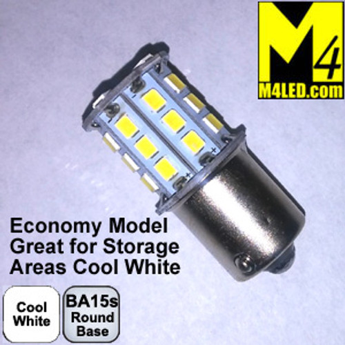 1156-30-2835-CW (1141) Cool White Economy 2835 SMD Light Bulb with Round Base