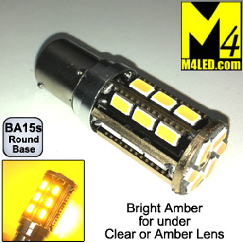 1156-24-5630-AMBER 1156 Amber Tail Light Replacement, Turn