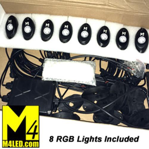 Under RV LED POD Light Kit with 8 Bright Lights