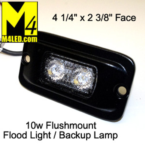UT-W0105B 10 watt Flush Mount Flood / Backup Lamp