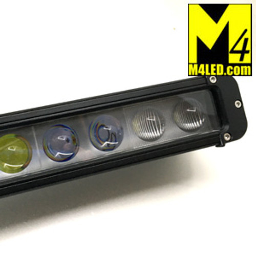 120w Single Row Light Bar Combo Pattern