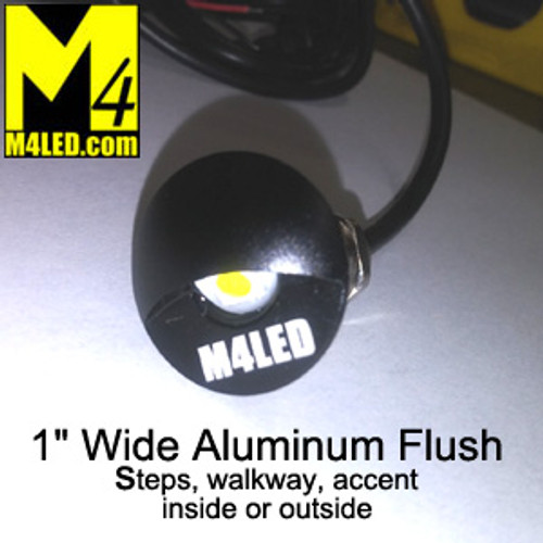 "WK-SS1AP-BLACK 1"" Indoor / Outdoor Flush Accent Light in Black"