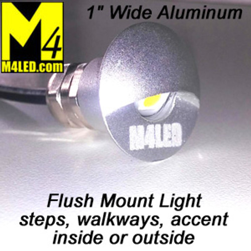 """WK-SS1AP-SILVER 1"""" Indoor / Outdoor Flush Accent Light in Silver"""
