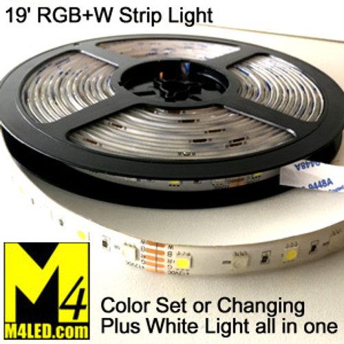 RGB+W-STRIP-RF 6 Meter (19.5') Color Changing Strip Light PLUS White