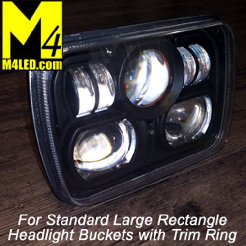 Composite SAN6851 Pair Large Standard Rectangle Headlight LED Replacement 7.5x5.25