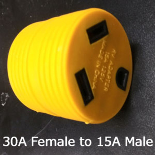 30 Amp Female to 15 Amp Household Male