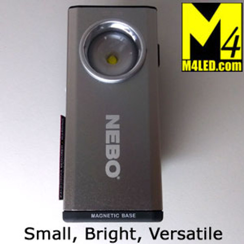 NEBO Slim Premium Rechargeable Flashlight in Silver