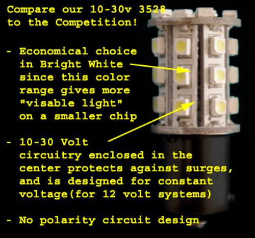 1156-30-2835-WW (1141) Warm White Economy 2835 SMD Light Bulb with Round Base