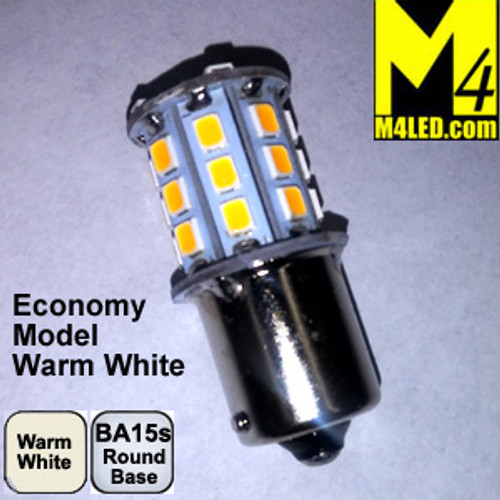 1156-30-2835-WW (1141) Warm White Economy 2835 SMD Light Bulb with Round Base