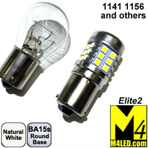 1156-33-3030-NW Natural White Elite2 (1141/1156) BA15s Base