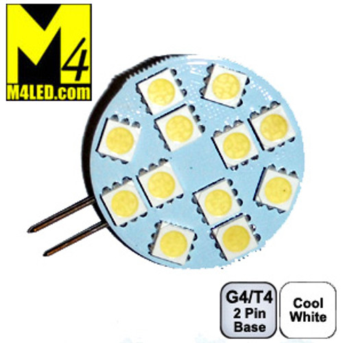 G4-12-5050-SIDE-CW Cool White G4 / T3 Retrofit LED Light with Side Pins Replaces 10w Halogen