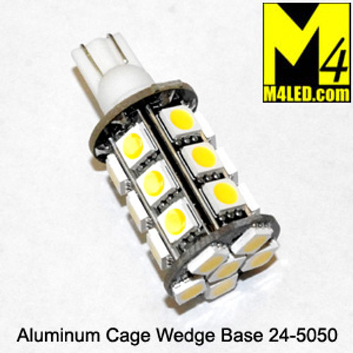 921-24-5050-CW Cool White 5050 SMD Light Bulb with Wedge Base