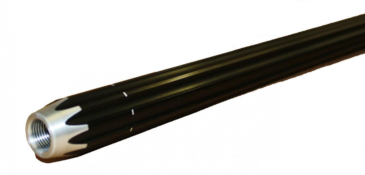 "5/8"" (1.125"" OD) Scalloped Aluminum Tubing - 5' Length - Black - Not Tapped"