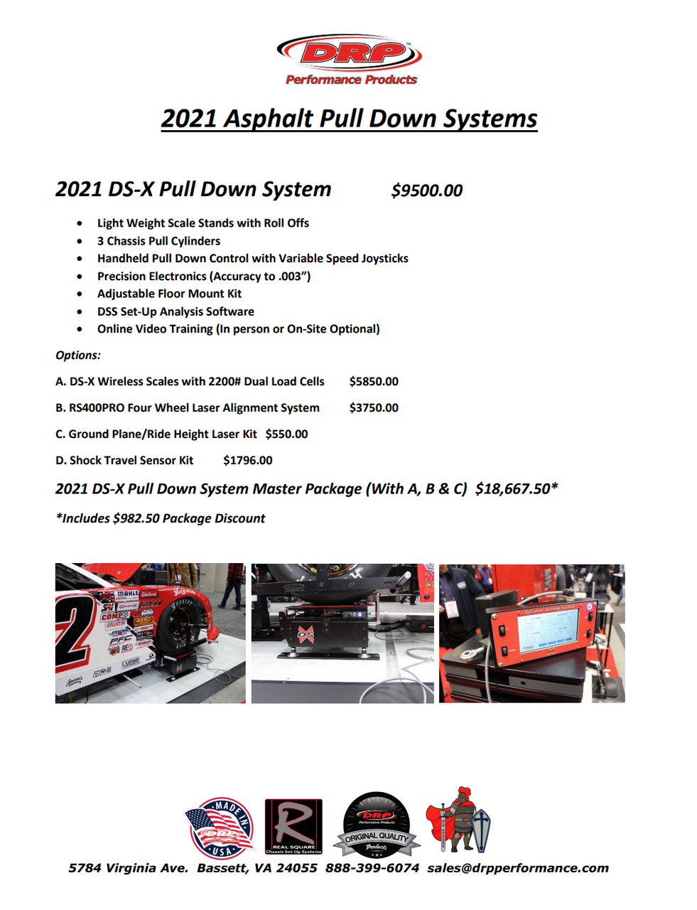 DS-X Asphalt Pull Down System