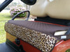 Quilted Brown Leopard Seat Cover