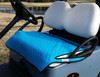 Quilted Turquoise and Black Cart Seat Cover