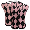 Beejo Pink Argyle Club Cover Set