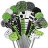 Just4Golf Black & Green Dot Fairway Cover
