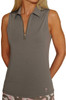 Golftini Grey Sleeveless Tech Polo