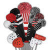 Just4Golf Red Vertical Stripe Driver Cover