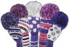 Just4Golf Sparkle Purple & Black Vertical Stripe Hybrid Cover