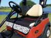 Quilted Fade Resistant Dalmatian Print Cart Seat Cover