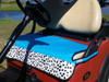 Quilted Fade Resistant Turquoise Dalmation Print Cart Seat Cover