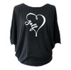 Bump & Run Black I Heart Golf Circle Top