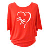 Bump & Run Red I Heart Golf Circle Top