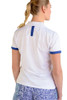Birdies & Bows On Par White Ladies Golf Polo with Navy Trim
