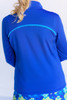 Birdies & Bows Navy & Turquoise Quarter Zip Long Sleeve Golf Shirt