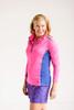 Birdies & Bows Pink Quarter Zip Long Sleeve Golf Shirt