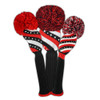 Just4Golf Sparkle Red Diagonal Stripe Driver Cover
