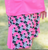 Birdies & Bows Abstract Ace Accordian Golf Skort