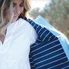 Ame & Lulu New Englander Golf Lovers Rain Jacket - Light Blue