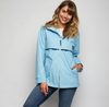 Ame & Lulu New Englander Tennis Lovers Rain Jacket - Light Blue