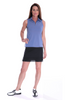 Golftini Dusty Blue Sleeveless Tech Polo