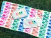 Ame & Lulu Rainbow Racquets Tennis Wristlet