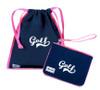 A&L Icon Golf Accessories - Drawstring Shoe Bag + Wristlet