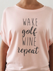 Bump & Run Blush Golf Repeat Circle Top