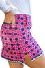 Golftini Hot Pink & Navy Stretch Cotton Skort | Wheels Up